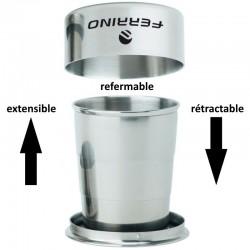 Tasse inox pliante Ferrino extensible et rétractable