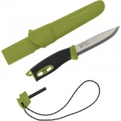 Couteau Mora Companion Spark vert avec pierre à feu