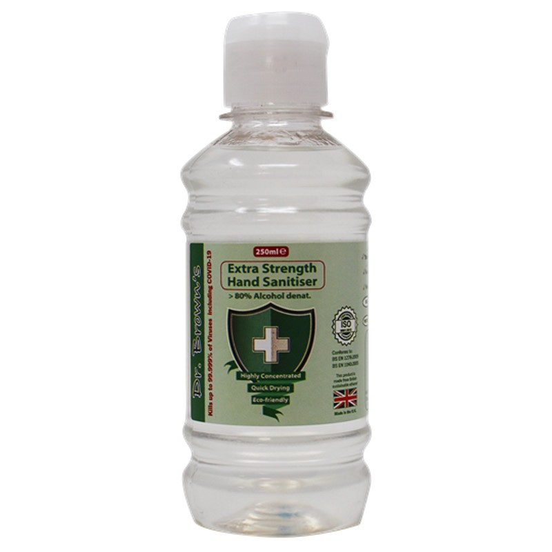 Gel hydroalcoolique désinfectant Dr Browns Hand Sanitizer