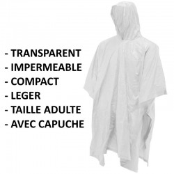 Poncho transparent adulte CAO