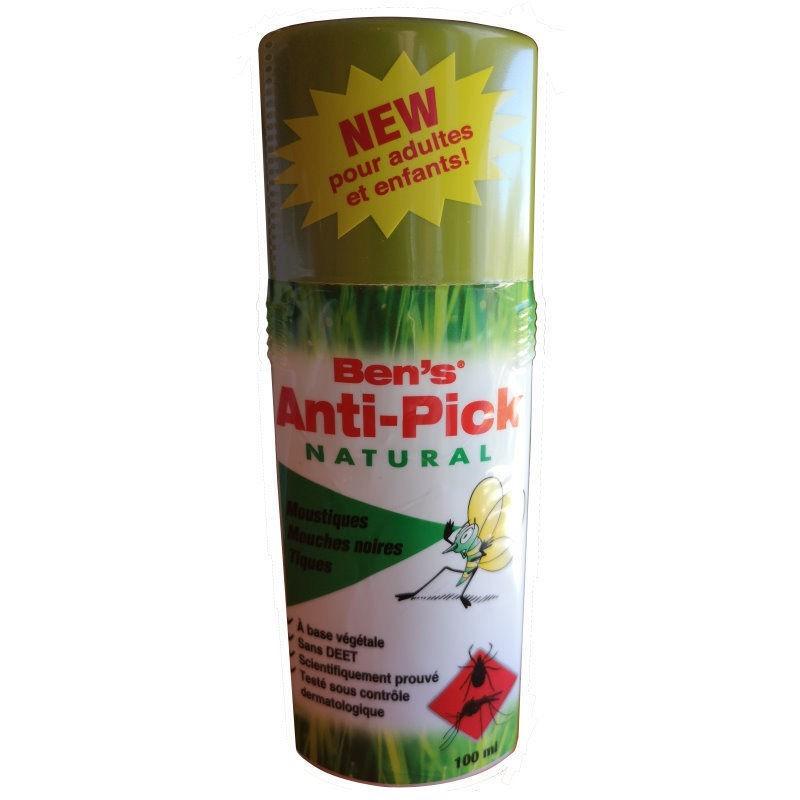 Spray répulsif anti-piqûres d'insectes Ben's Anti-Pick Natural