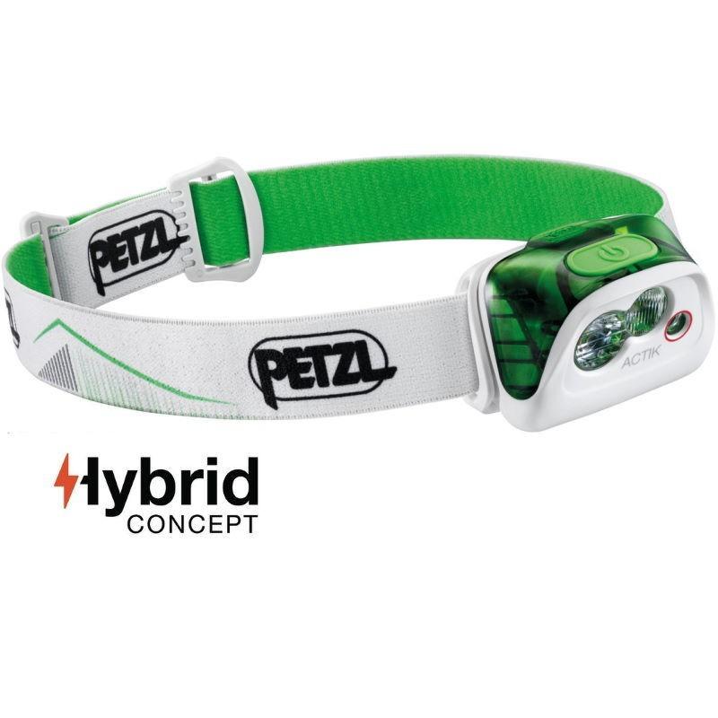 Lampe frontale Petzl Actik Hybrid verte