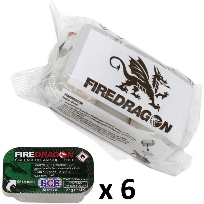 Combustible solide Fire Dragon par lot de 6 tablettes