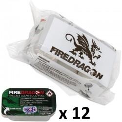 Combustible solide Fire Dragon (lot de 12 tablettes)