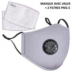 Masque en tissu avec filtre...