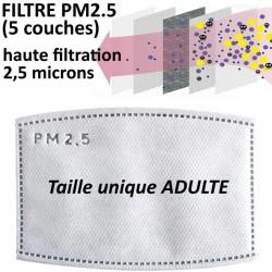 Filtre PM2.5 de rechange pour masque adulte