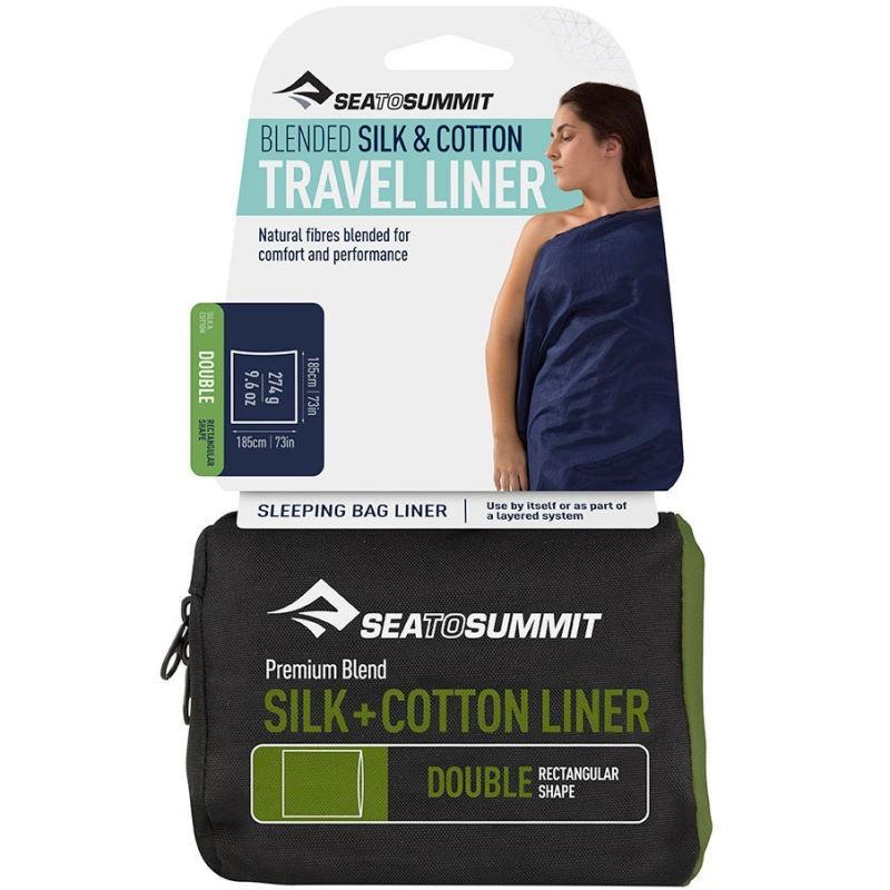 Sac à viande Sea to Summit soie coton Silk Cotton double