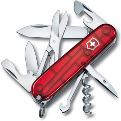 Couteau suisse Victorinox Climber rouge translucide
