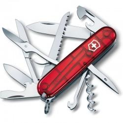 Couteau suisse Victorinox Huntsman rouge translucide