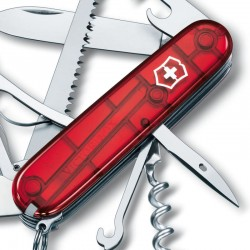 Couteau Victorinox Huntsman rouge translucide