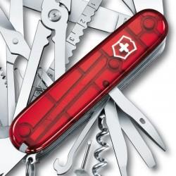 Couteau Victorinox Swisschamp rouge translucide