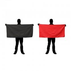 Serviettes microfibres CAO rouges et noires