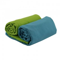 Serviette microfibre CAO bleue ou verte