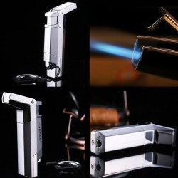 Briquet à gaz rechargeable chalumeau métal