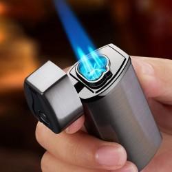 Briquet rechargeable en gaz et par USB Lighter triple flamme