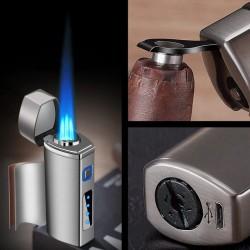 Briquet à gaz rechargeable avec triple flamme