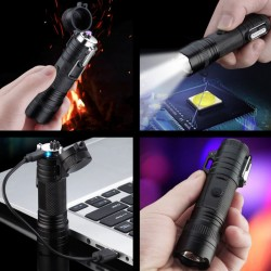 Briquet électrique rechargeable USB avec lampe torche