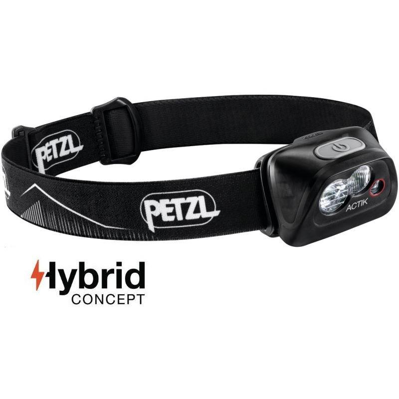 Lampe frontale Petzl Actik Hybrid noire