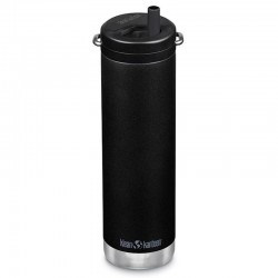 Gourde isotherme Klean Kanteen TKWide Insulated 0,6L noire + bouchon Twist
