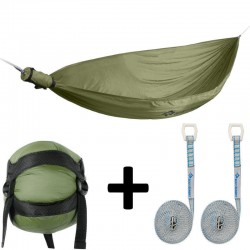 Hamac Sea to Summit Pro Hammock olive avec kit de fixation