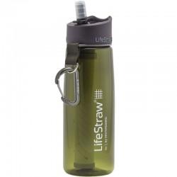 Gourde filtre à eau Lifestraw Go 2 Stages vert armée