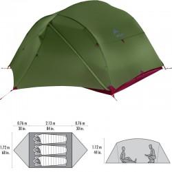 Tente de randonnée MSR Mutha Hubba NX verte