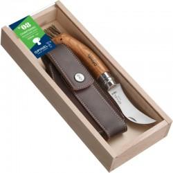 Coffret couteau Opinel Champignon n°8 avec manche en chêne et étui