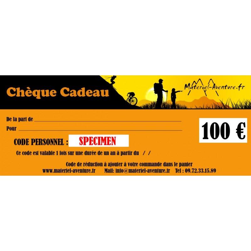 Chèque-cadeau Matériel-Aventure de 100 €