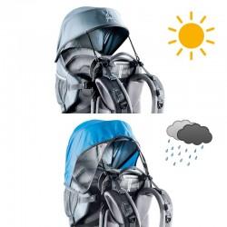 Pare-soleil et pare-pluie pour porte-bébé Deuter