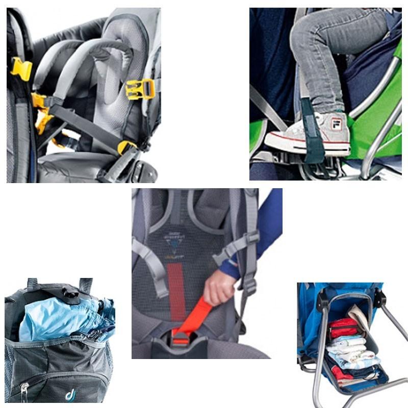 Porte-bebe-Deuter-Kid-Comfort-3-avec-pare-soleil-integre-Neuf miniatuur 3