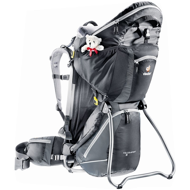 Porte-bebe-Deuter-Kid-Comfort-3-avec-pare-soleil-integre-Neuf miniatuur 2