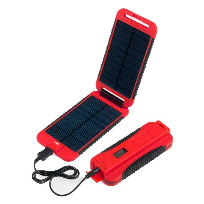 panneau solaire avec batterie extreme powertraveller rouge. Black Bedroom Furniture Sets. Home Design Ideas