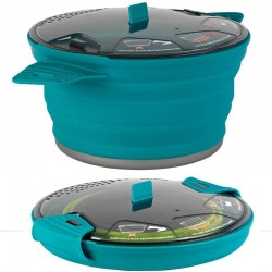 Popote pliable XPOT Sea to Summit turquoise