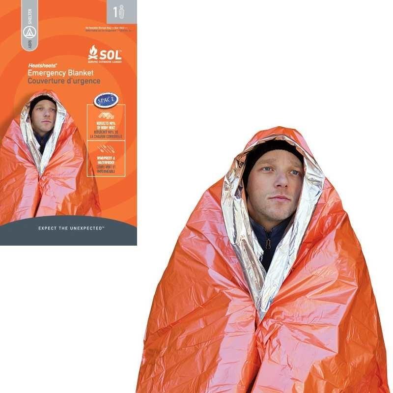 Photo, image de la couverture de survie Emergency Blanket en vente