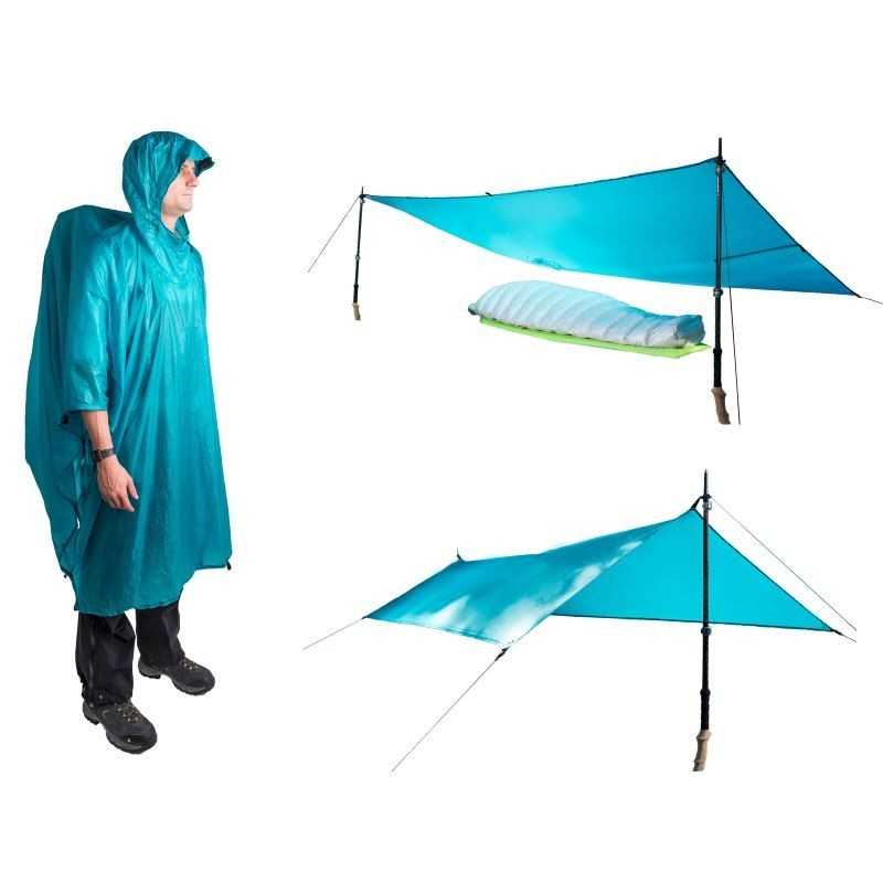 Poncho Tarp Ultra-Sil Nano Sea to Summit bleu