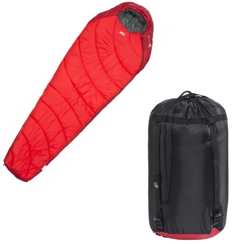 sac de couchage de randonn e baikal 1500 millet rouge. Black Bedroom Furniture Sets. Home Design Ideas