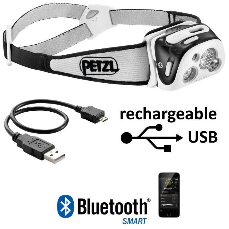 Avec Lampe Reactik Et Petzl Frontale Plus Bluetooth Connexion Usb fb7g6y