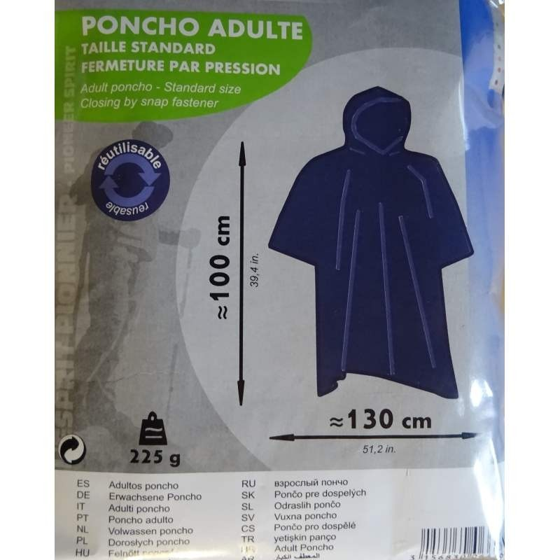 Poncho Adulte CAO