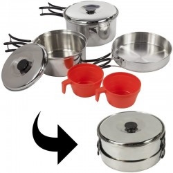 Popote inox 2 personnes Regatta Compact Cook Set + housse