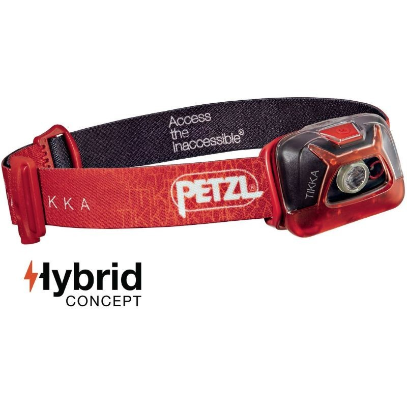 Lampe frontale Petzl Tikka Hybrid rouge