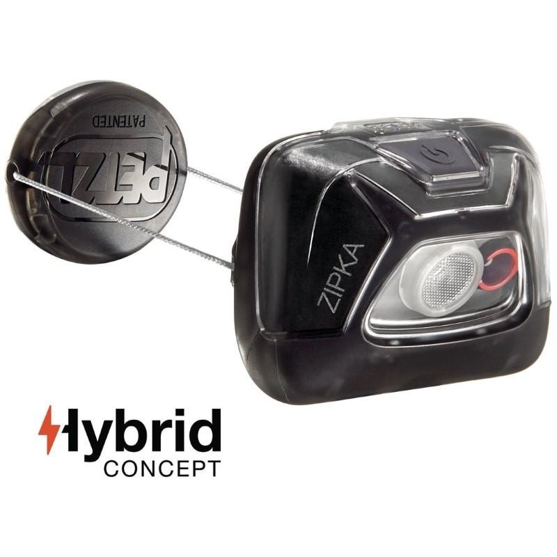 Lampe frontale Petzl Zipka Hybrid noire