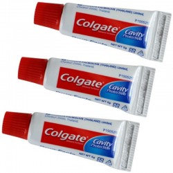 Mini tubes de dentifrice Colgate (lot de 3 tubes)