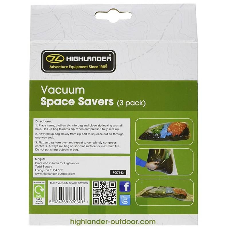 sac de compression de voyage highlander vacuum space savers. Black Bedroom Furniture Sets. Home Design Ideas