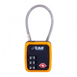 Cadenas câble TSA CAO à combinaison 3 chiffres