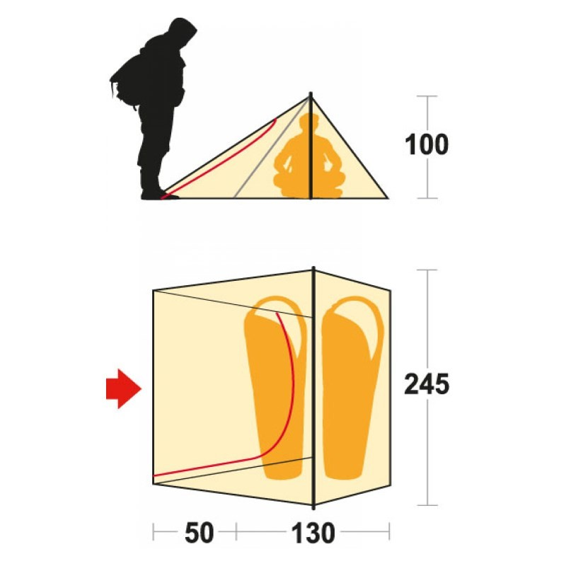 Tente Tente Tente Ferrino Sintesi 2 personnes - Neuf 964519