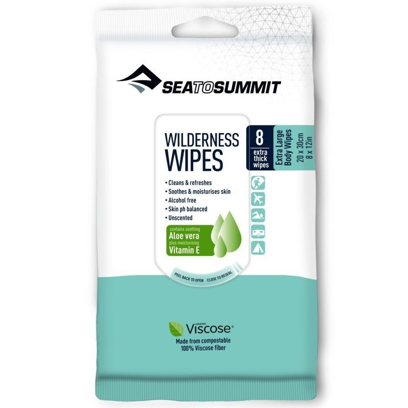Lingettes lavantes Sea to Summit Wilderness Wipes Taille L (lot de 8)