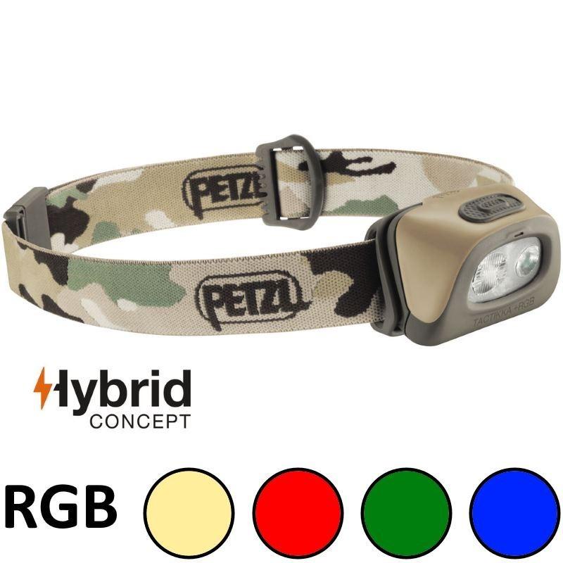 Lampe Frontale Petzl Tactikka + RGB Hybrid Camouflage