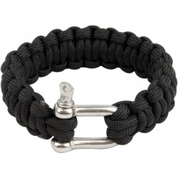 Bracelet paracorde Highlander Paracord D-Ring noir