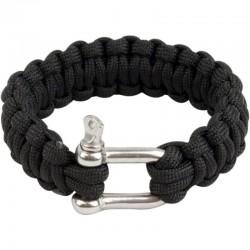Bracelet paracorde Highlander Paracord D-Ring noir