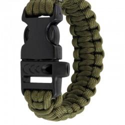 Bracelet Highlander Paracord QR Buckle vert